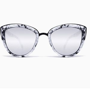 Accessories - Marble Cat Eye Mirrored Sunglasses